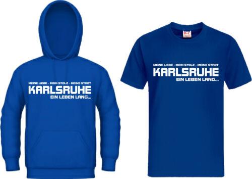 T-Shirt Kapuzensweat KARLSRUHE EIN LEBEN LANG Ultra  Hoodie Kapu Trikot