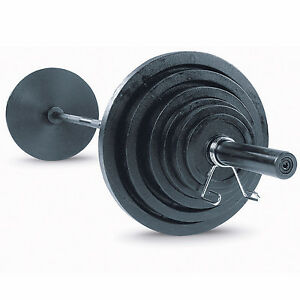 Image is loading 300-lb-Olympic-Weight-Plate-Set-with-Bar-  sc 1 st  eBay & 300 lb. Olympic Weight Plate Set with Bar OSB300S Body-Solid ...