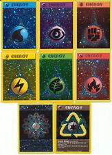 Pokemon League Original Reverse HOLO Promo card SET of 8 energy cards NM/MINT!