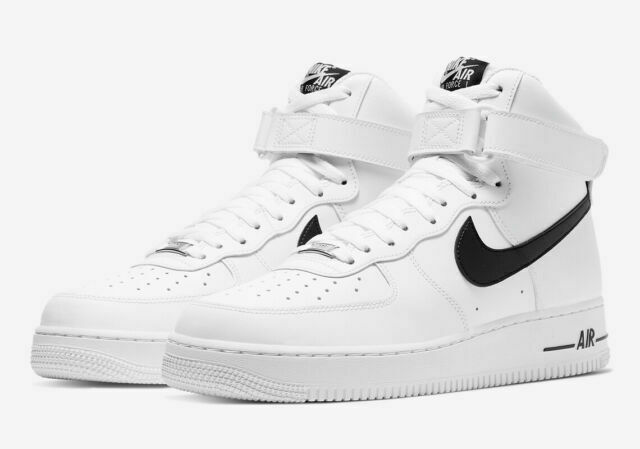 Size 12 - Nike Air Force 1 High White Black for sale online | eBay