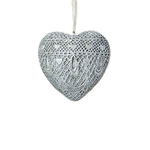 Hanger Heart Theda Silver