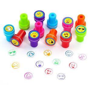 Stempelset-Smiley-12-Stueck-Kinder-Stempel-Selbstfaerbend-kreativer-Spielspass