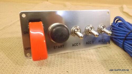 GRAYSTON Interruttore accensione e pulsante inizio con 3 interruttori accessori-GE344-3