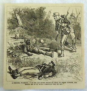1882-magazine-engraving-A-GHOORKA-Gurkha-WARRIOR-warrior-dying-Nepal