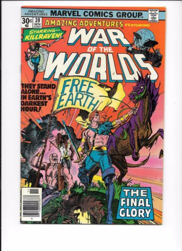 Amazing Adventures Featuring War Of The Worlds #39 November 1976 final issue