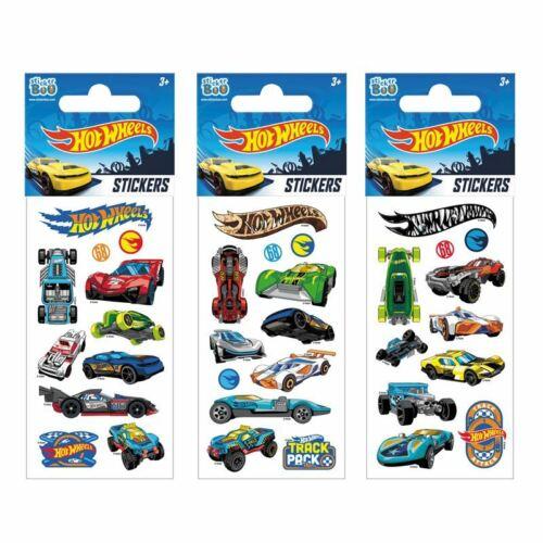 3 X Hot Wheels Aufkleber Ideal Partybeutel Sticker Cars Hotwheels