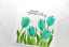 thumbnail 6 - Handmade Greeting Card Sympathy Condolences Tulips Floral A2 Size w/ Envelope