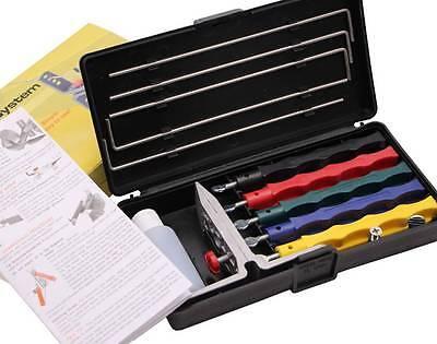Professional Wide Range Kitchen Knife Sharpener System Fix-angle 5 Stone Version