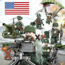 USA Army Soldier WW2 Set US Military Base MiniFigures Blocks Fit Lego Blocks Toy