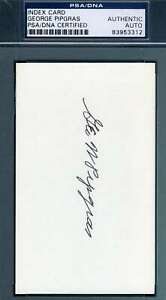 George Pipgras PSA DNA Coa Autograph Hand Signed 3x5 Index Card