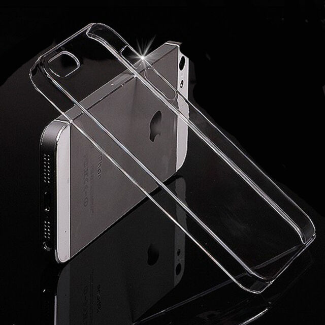Clear Ultra Thin Glossy Transparent Back Hard Case Cover For Apple iPhone 5 5s