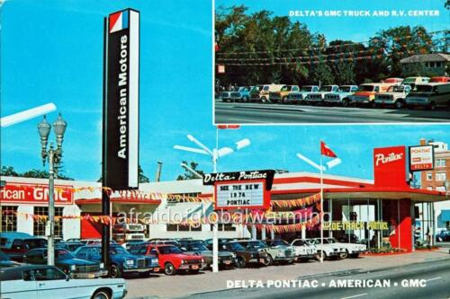 Stockton Auto Dealership California Photo Delta Pontiac-American-GMC 1970s