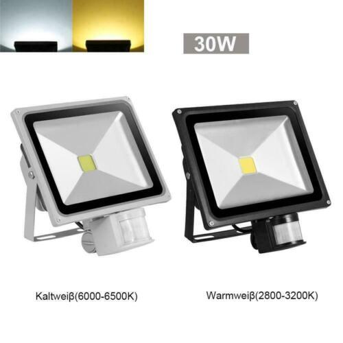 LED Flood Light Security PIR 10//20//30//50//100//200//300W FloodLight Warm//Cool White
