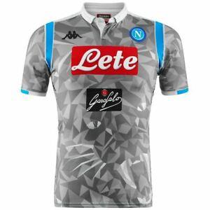 Kappa-T-shirt-sport-Active-Jersey-Man-KOMBAT-GARA-2019-NAPOLI-Soccer-sport-CNA