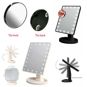 22-LED-Light-Illuminated-Make-Up-Cosmetic-Mirror-with-Small-Magnification-Mirror