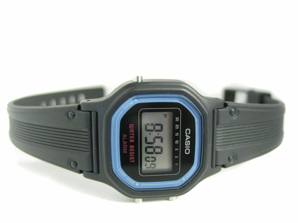 d454d3dfc232 Casio Original New LA-11 Women s Digital Black Resin Watch Alarm ...
