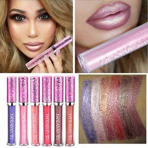 Iridescent-Glitter-Matte-Liquid-Lipstick-Waterproof-Beauty-Makeup-Lip-Gloss-NEW