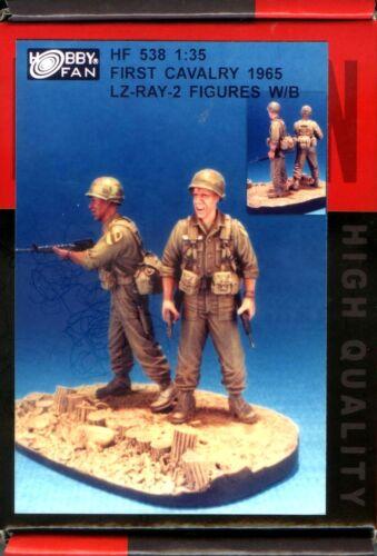 Vietnam War Hobby Fan 1//35 HF-538 First Cavalry 1965 LZ-RAY 2 Figures w//Base