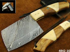 Alistar Handmade Damascus Knife Hunting, Kitchen/Chef's Cleaver Knife (4842-16