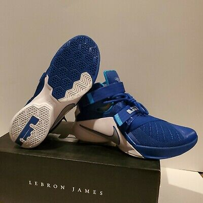 best authentic 906fd 690d0 *** Brand New *** Nike Lebron James Soldier IX 9 TB Men Blue White - Size  10 | eBay
