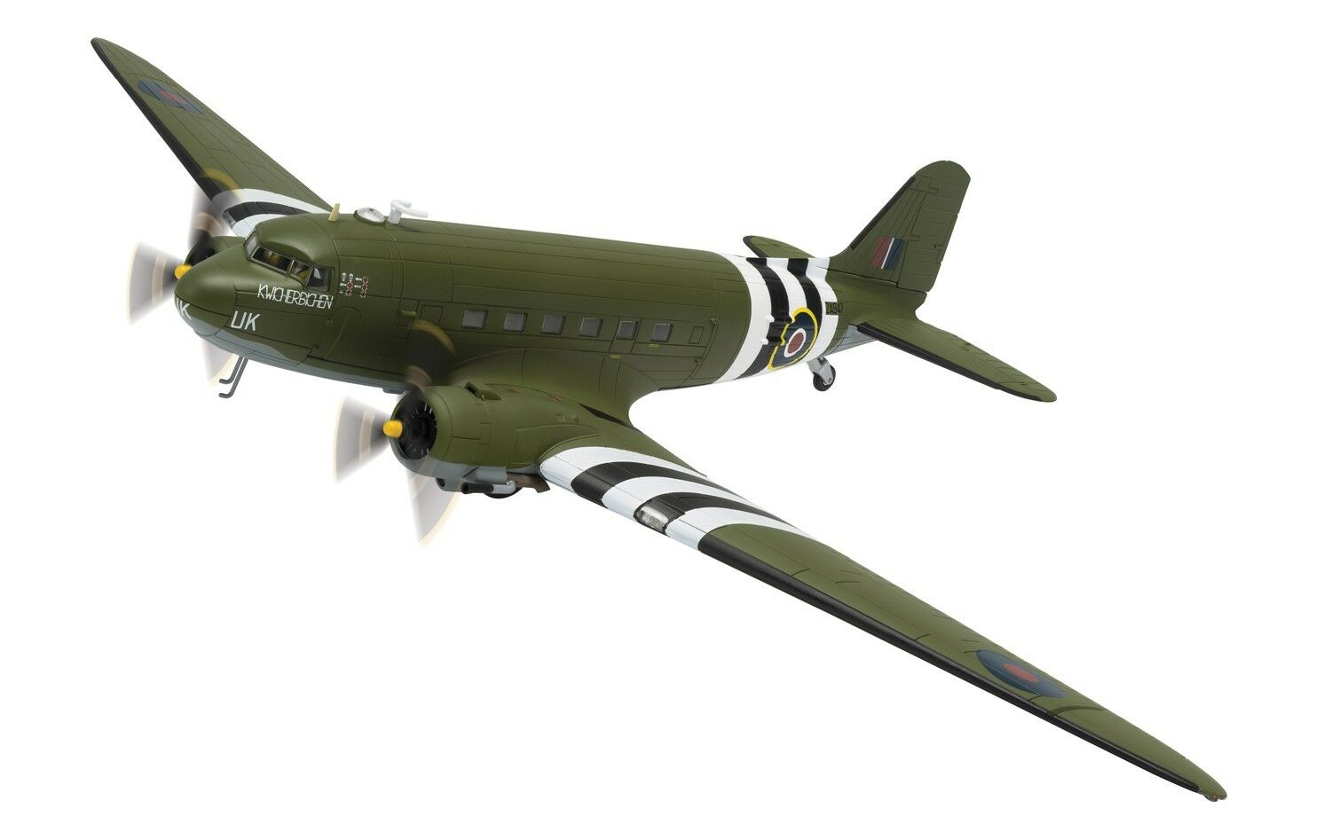 CORGI Douglas C-47 Dakota, 'KWICHERBICHEN' battle of Britain MemorialAA38208