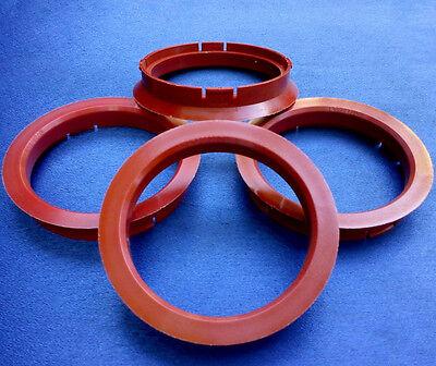 64,1 mm rot für Alufelgen 4 Stück Zentrierringe 72,5 R17