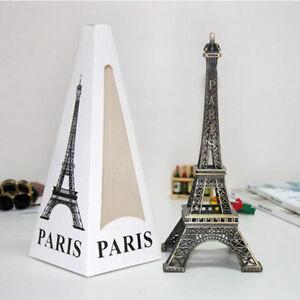 2018 18cm Vintage Alloy Bronze Paris Eiffel Tower Figurine Statue Model Decor US