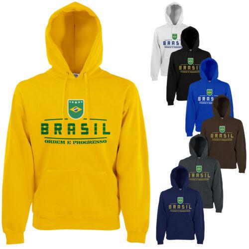 Brasilien  Fan Hoodie Kapuzenpullover WM2018