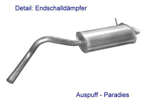 42-60KW Kit Typ K//FCO1/_-/>06//03 Abgasanlage Auspuff für Renault Kangoo 1.5 dCi