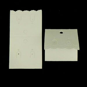 Image Is Loading 50 X Luxury White Earring Card Jewellery Display