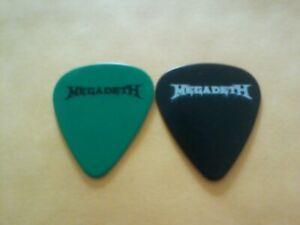 Collection Ici Paire De Megadeth Dave Mustaine Ellefson Guitar Picks (2)-afficher Le Titre D'origine
