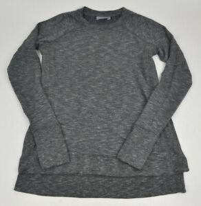 9f6a95eb1 ATHLETA Studio Side Slit CYA Sweatshirt GRAY Space Dye MELANGE Super ...