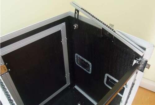 10 HE Rack Kombicase FLEX Winkelrack L-Rack Doppel-CD-Player Mixercase 12 HE