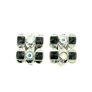 BRAND-NEW-VINTAGE-INSPIRED-ANTIQUE-RHODIUM-SILVER-PLATED-GREY-CLIP-ON-EARRINGS