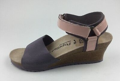 run shoes the cheapest entire collection Papillio by Birkenstock Eve Wedge Purple Leather Ankle Strap ...