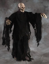 Death Skull Reaper Skeleton Adult Halloween Costume Mask Gloves & Rotting Robe