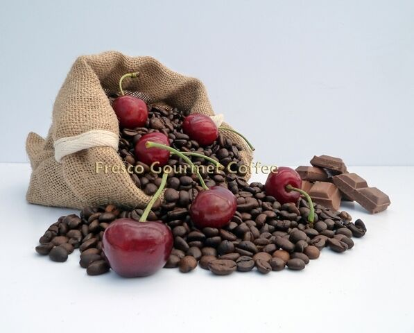 Chocolate Cherry Flavour Coffee Beans 100% Arabica Bean Flavoured Coffee