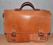 Leder Schultasche Lehrertasche Vintage Braun Tasche 70er Jahre Aktentasche b