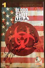 Bloodshot USA Diamond Retailer Summit Signed by Jeff Lemire Comic Book Valiant