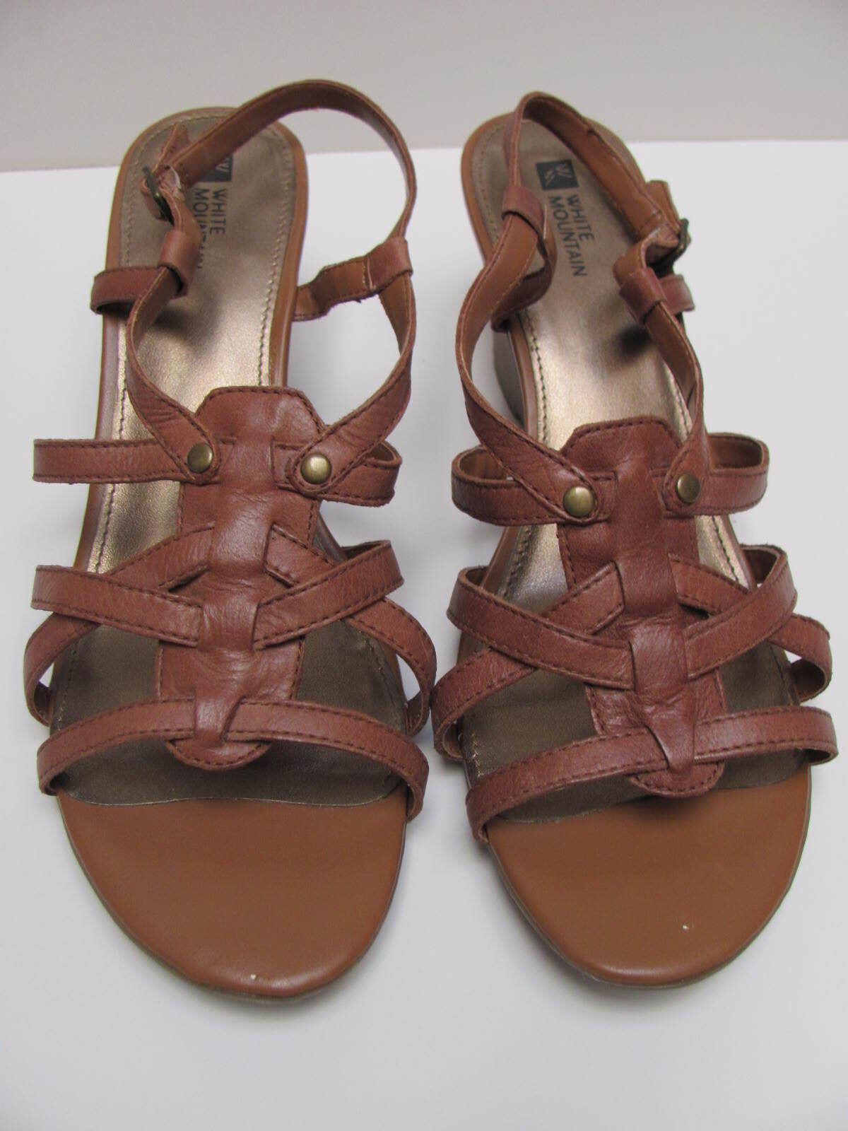 Womens Heel White Mountain Beige Med Heel Womens Wedge Heel, Leather Upper Balance Man Made d344a5