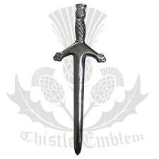 """Men's Scottish Kilt Pin Sword Chrome Finish 4""""/Thistle Hilt Kilt Pins/Sword Pins"""