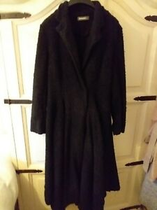 Soft Cardi 3 Boiled Black coat Boucle Style Victorian Size Wool Alembika xpq4a8R