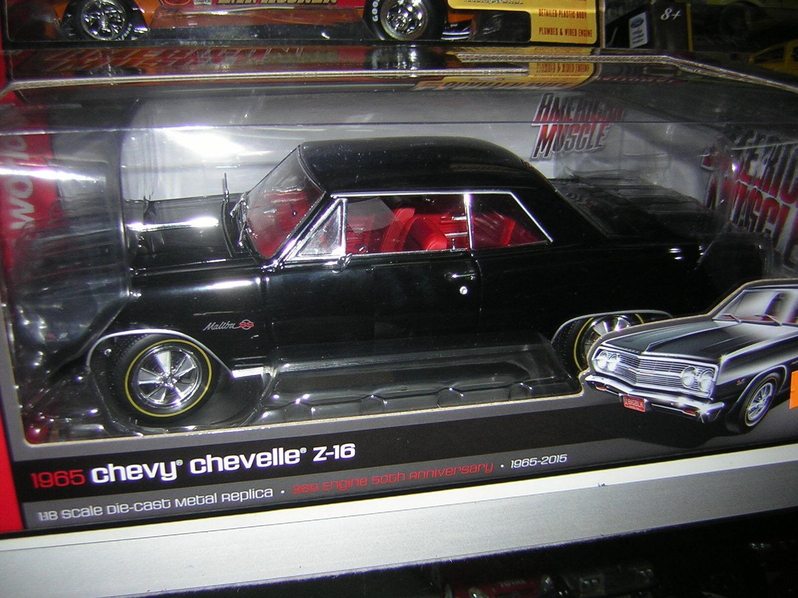 1/18 Chevrolet  chevelle Z-16 1965    Auto World   chevy | Acheter