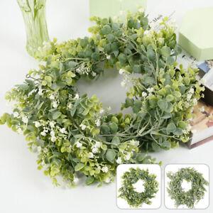 Guirlande-Faux-Eucalyptus-Couronne-Verdure-Feuille-Vigne-Plante-Decor-BR