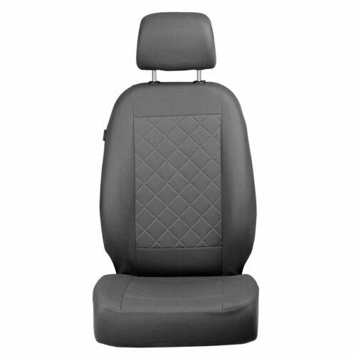 Grises Karo patrón fundas para asientos para fiat panda asiento del coche referencia completamente