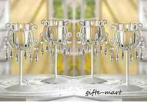 6 white Crystal Chandelier Candle Holder stand wedding table decoration CHEAP