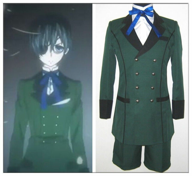 Hot! Black Butler kuroshitsuji Ciel Phantomhive Cosplay party Costume