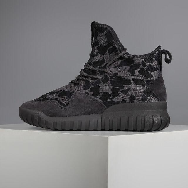 Adidas Mens Boys Tubular X UNCGD Trainers Grey Camouflage BB8403 UK 4.5, 6.5