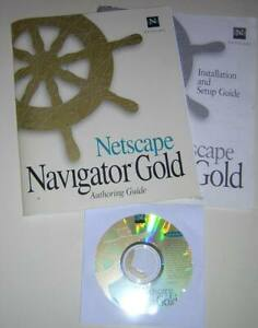 Vintage-Netscape-Navigator-Gold-Windows-CD-ROM-with-Manual-amp-Author-Guide-1996