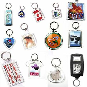 Blank-Photo-Keyring-1-5-10-25-50-100-Jumbo-Passport-Square-Round-Heart-Shape
